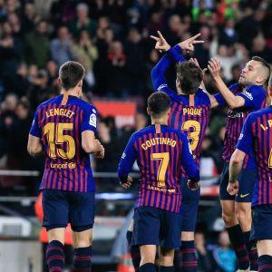 Barcelona firar mål mot Villareal.