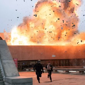 Räjähdys Tenet-elokuvassa.