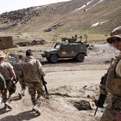 Spanska soldater i Afghanistan.