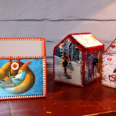 Korthus av julkort