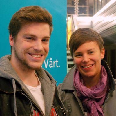 Rasmus Borg och Johanna Molander
