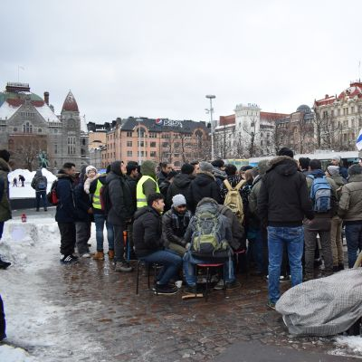 Asylum seekers from Iraq and Afghanistan have been protesting in central Helsinki against Finland's tough immigration and asylum policies for weeks.
