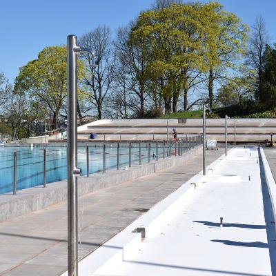 Samppalinnan remontoitu maauimala avaa ovensa uimareille jälleen kesäkuun alussa.