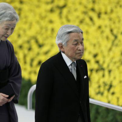 Kejsar Akihito väntas abdikera i mars år 2019,. Både han och kejsarinnan Michiko är 83 år gamla