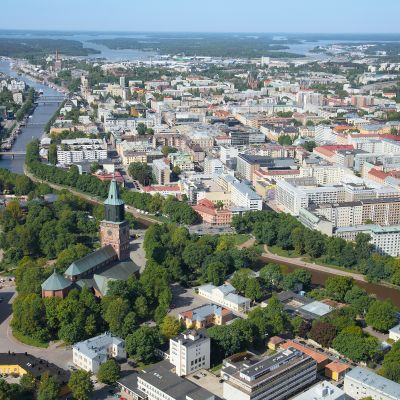 Flygbild över Åbo.