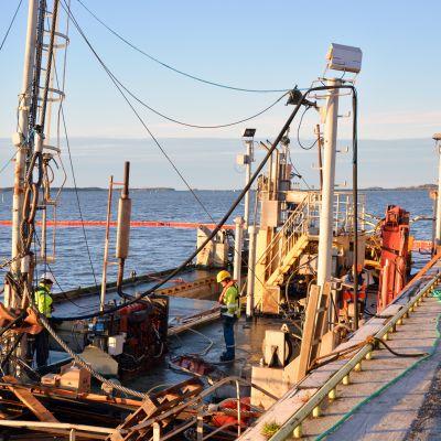 Tutkimusporalautta Esko Vaasan satamassa