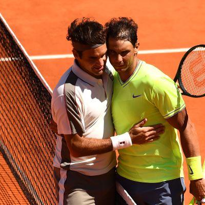 Roger Federer ja Rafael Nadal.