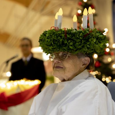 Vuoden 2019 Lucia-mummo Hilkka Jyrkkänen