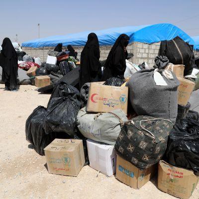 Bild från lägret i al-Hol.