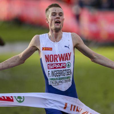 Filip Ingebrigtsen voitti maastojuoksun Euroopan mestaruuden vuonna 2018.