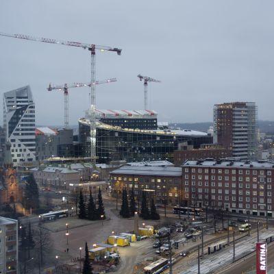 Tampereen areenatyömaa