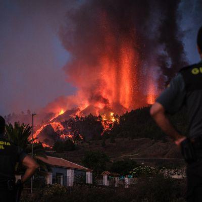 Tulivuori purkautuu Kanariansaariin kuuluvalla La Palmalla
