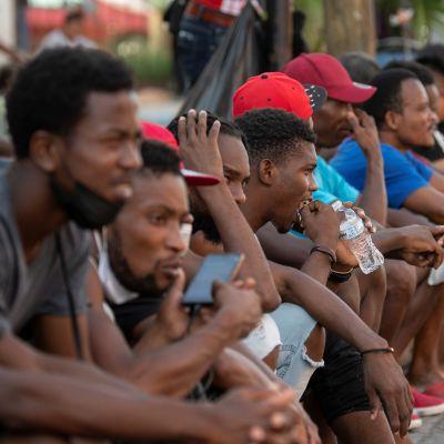 Haitilaisia siirtolaisia Meksikossa syyskuussa 2021.