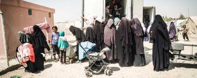 Kvinnor och barn i flyktinglägret al-Hol