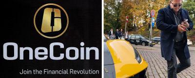 Kaksi kuvaa: OneCoinin pääkonttori ja Kari Wahlroos