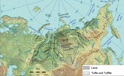 Karta över de så kallade sibiriska trapporna.