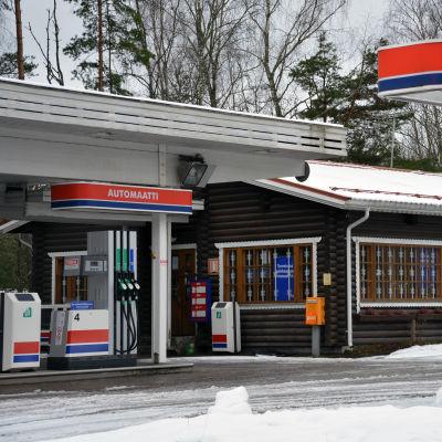 Teboilstationen i Lappvik.