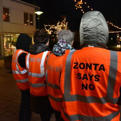 Zonta Says No till kvinnovåld, också i Hangö