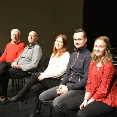 Sven Sid, Teddy Granroth, Sarah Nedergård, Leif Wadenström och Emilia Ekström