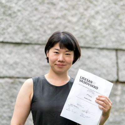 Eufoniumkilpailun 2018 voittaja Ayaka Sato Japanista.