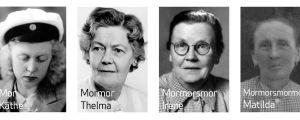 Kaj Arnös mormorsmor, och mormorsmorsmor. gammalt foto