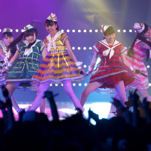 Japanese pop girl group Momoiro Clover Z perform during the MTV Video Music Awards Japan 2013 in Chiba, near Tokyo, Japan,.