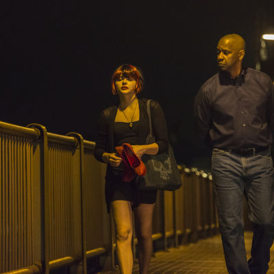 Chloë Grace Moretz och Denzel Washington i filmen The Equalizer.