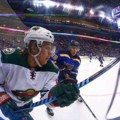 Mikael Granlund var en av Wilds bästa spelare i den första slutspelsmatchen mot St. Louis.