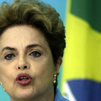 Dilma Rousseff efter att hon förlorat underhusets omröstning om riksrättsprocess 18.4.2016