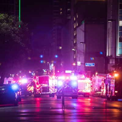 Polisskjutning i Dallas.