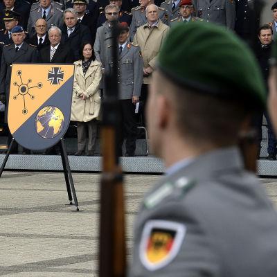 Tyska arméns cybersäkerhetsavdelning invigdes.