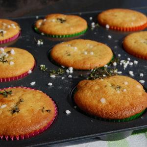 Muffins bakade på grillen