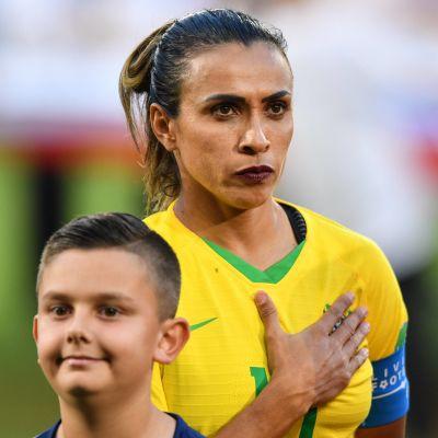 Marta deltar i fotbolls-VM i Frankrike för sitt Brasilien.