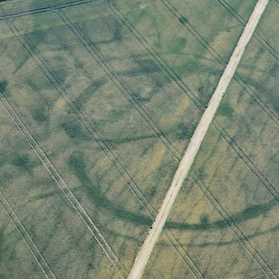 Flygfotografi av fornlämningeen Vale of Glamorgan villa