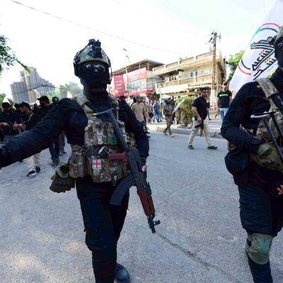 Regeringssoldater och shiamuslimska milismän anklagas för att använda oproportionerligt våld mot demonstranter