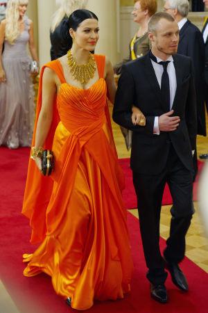 Jenni Vartiainen och Jukka Immonen på Sjävständighetsmottagningen 2011