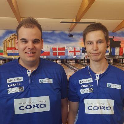 Tomas Käyhkö ja Niko Oksanen voittivat parihopeaa keilailun EM-kisoissa.