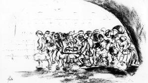 Ferdinand Bloch: En transport anländer i Theresienstadt