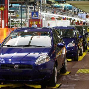 Fiatfabrik i Turin, Italien.