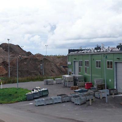 Lipporannan öljyiset maat täyttävät Oulun jätekeskusta.