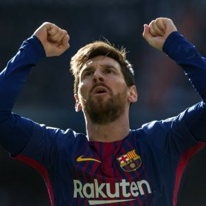 Lionel Messi jublar.