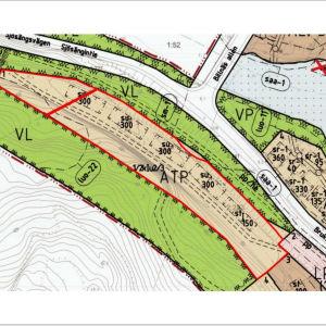 En detaljplanekarta som visar ett område i Billnäs och vad man får bygga där.