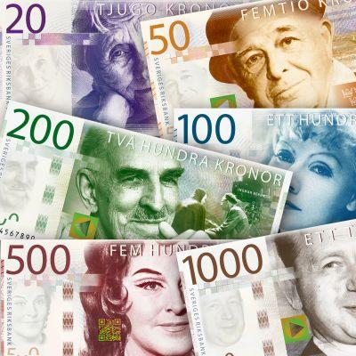 Nya svenska sedlar.