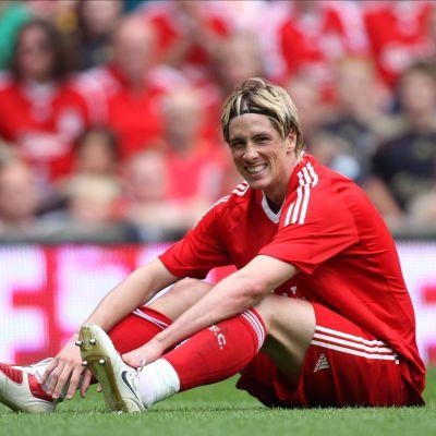 Fernando Torres spelade för Liverpool.