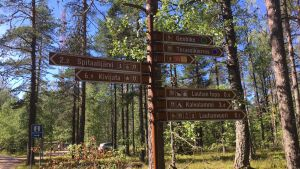 Lauhanvuoren kansallispuiston opaste