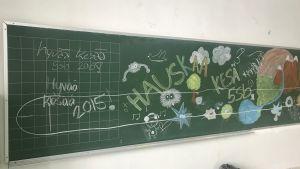 svarta tavlan i nedlagda Ristikari skola i Jakobstad