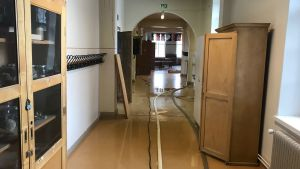 Vattenskador i Ristikari skola i Jakobstad.