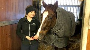 Bertta Timmerbacka med sin häst Danny