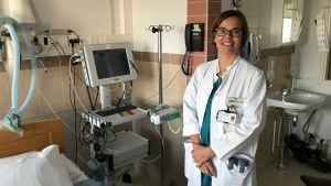 Marika Smeds i förlossningssalen.