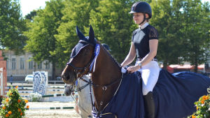 Felicia Österling på hästen Carisma ST på Seahorse Week 2019.